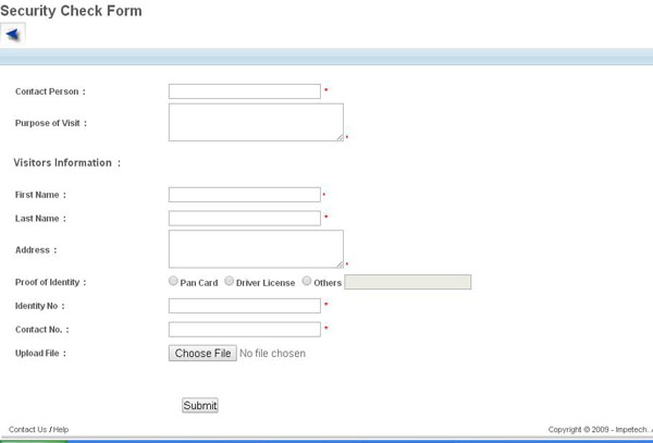 security form